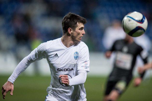 Obránce Mladé Boleslavi Ondřej Kúdela během utkání s Jabloncem.