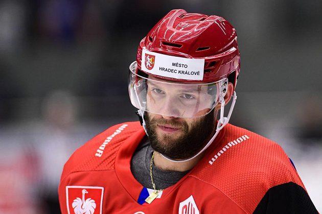Střelec gólu Tomáš Vincour z Hradce Králové.