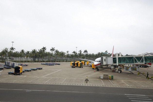 Po příletu na Chaj-nan se naskytl slávistům výhled na palmy.