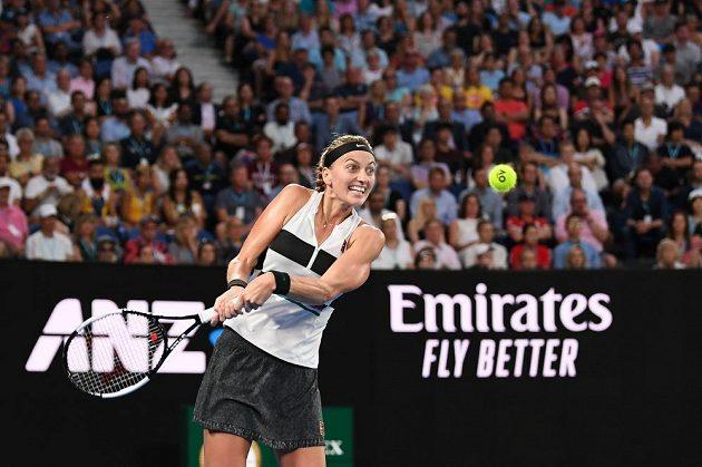 Tenisový grandslamový turnaj Australian Open, 22. ledna 2019 v Melbourne. Petra Kvitová při zápase s australskou tenistkou Ashleigh Bartyovou.