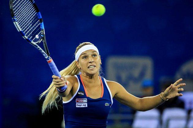 Slovenka Dominika Cibulková vyřadila v osmifinále turnaje v čínském Wu-chanu Karolínu Plíškovou.