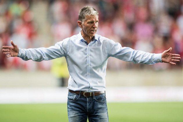 Trenér Slavie Praha Jaroslav Šilhavý během utkání 1. kola HET ligy SK Slavia Praha - FK Teplice.