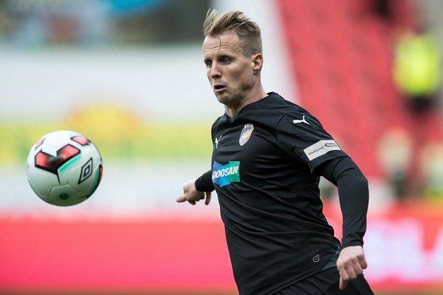 Plzeňský obránce David Limberský během utkání 19. kola proti Slavii.