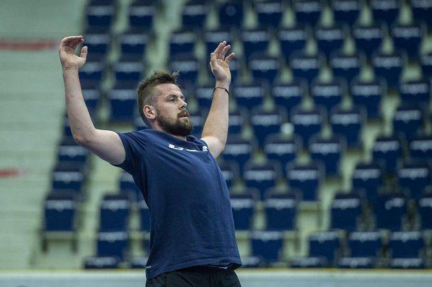 První trénink hokejistů Liberce v letní fázi přípravy. Útočník Rostislav Marosz.