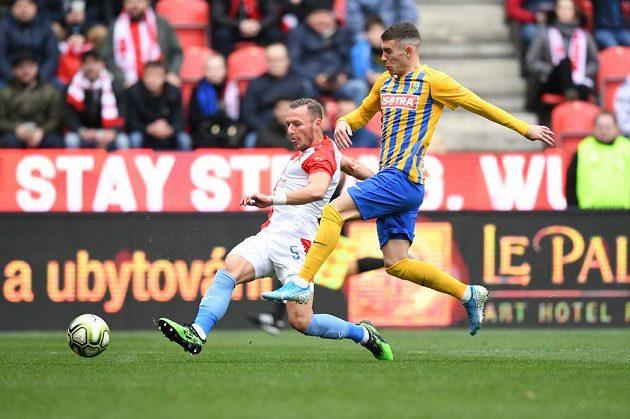 Slavia bojovala o ligové body proti Opavě
