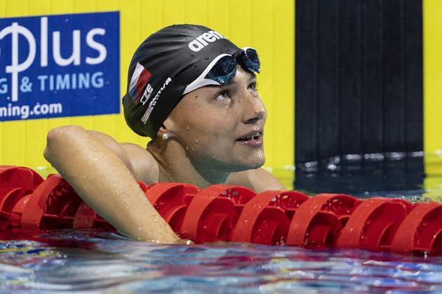 Plavkyně Barbora Seemanová na evropském šampionátu v Budapešti.