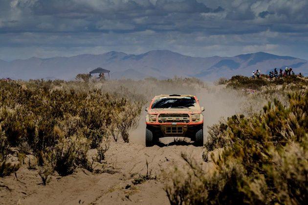 Martin Prokop na trati čtvrté etapy Rallye Dakar.