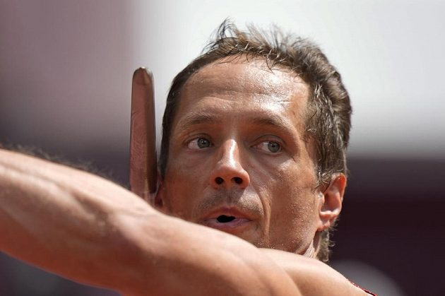 Vítězslav Veselý během olympijské kvalifikace v Tokiu.