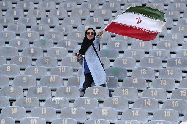 Íránská fanynka.