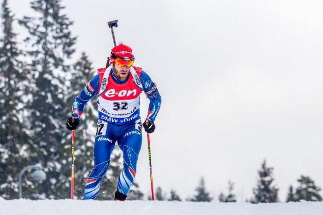 Michal Šlesingr na trati v Holmenkollenu.