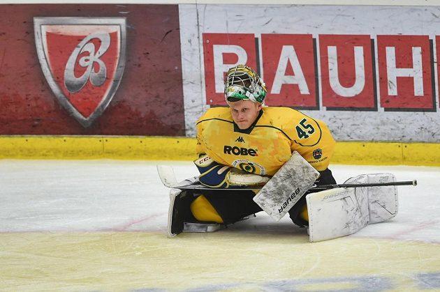 Brankář Vsetína David Gába porážce v Českých Budějovicích nezabránil.