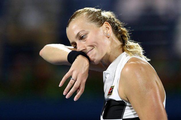 Zklamaná Petra Kvitová ve finále nestačila