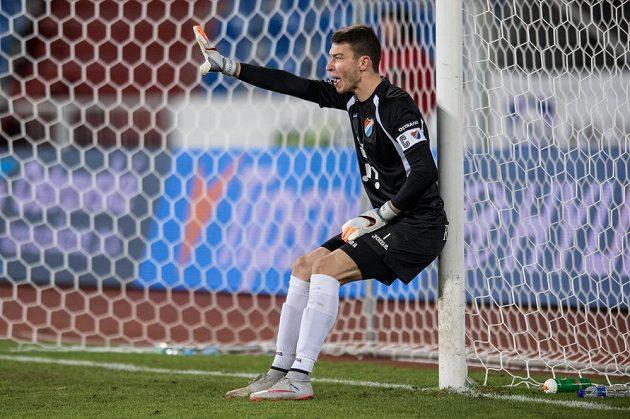 Kapitán Ostravy Jiří Pavlenka se hrubkou výrazně podepsal pod jediný gól sparťana Davida Lafaty.