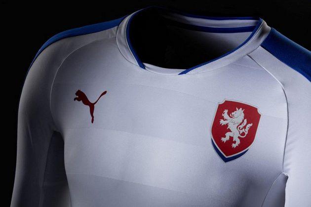 Dres pro zápasy české fotbalové reprezentace na hřištích soupeřů.