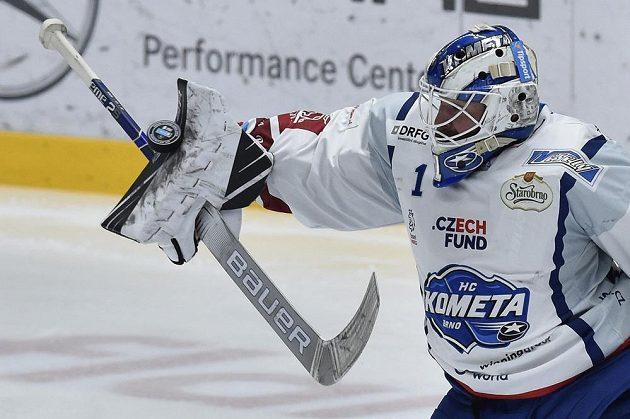 Brankář hokejového Brna Marek Čiliak.