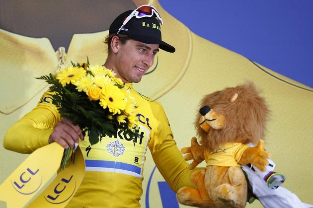 Slovenský cyklista Peter Sagan, vítěz druhé etapy Tour de France.