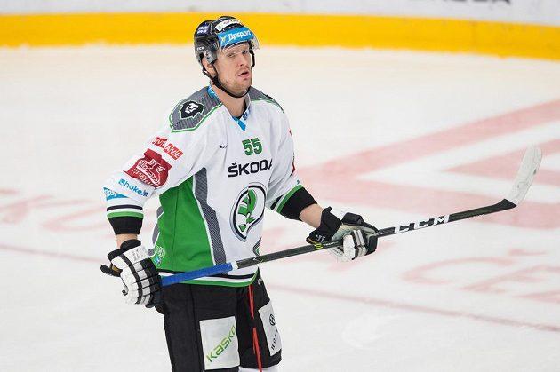 Mladoboleslavský útočník Tomáš Urban během utkání 21. kola hokejové Tipsport extraligy s Karlovými Vary.