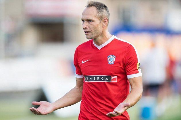 Jan Polák z Brna během utkání se Spartou.