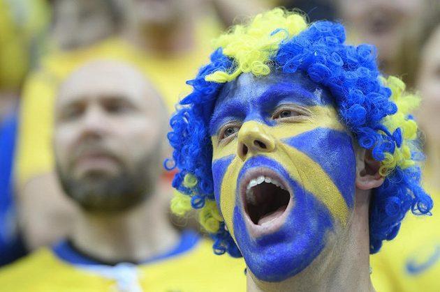 I tento fanoušek Švédska si jistě užil semifinálové drama.