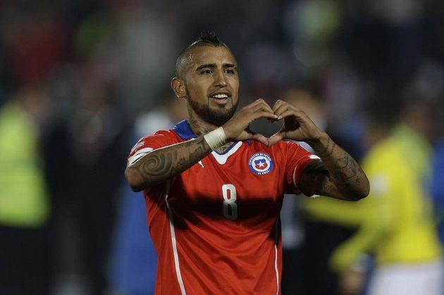 Záložník Chile Arturo Vidal vstřelil na Copa América už tři góly.