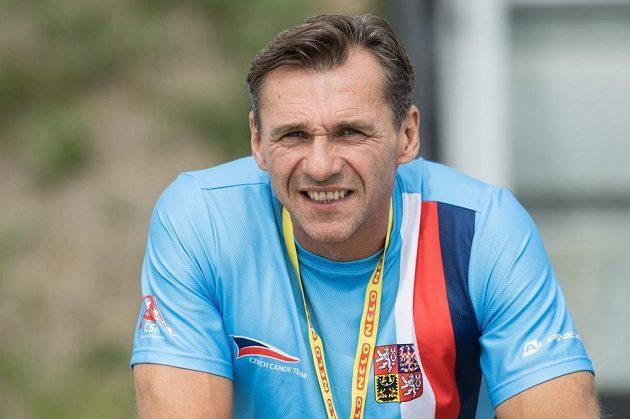 Kanoista Petr Bubanec během Mistrovství světa v rychlostní kanoistice v Račicích.