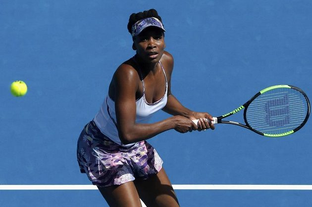 Americká tenistka Venus Williamsová v semifinálovém utkání Australian Open.