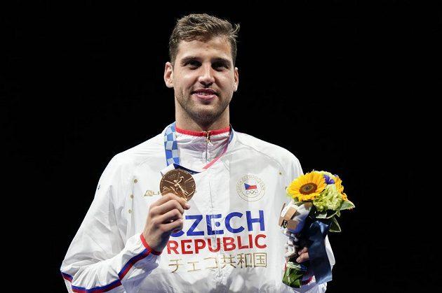 Bronzový medailista, fleretista Alexander Choupenitch.