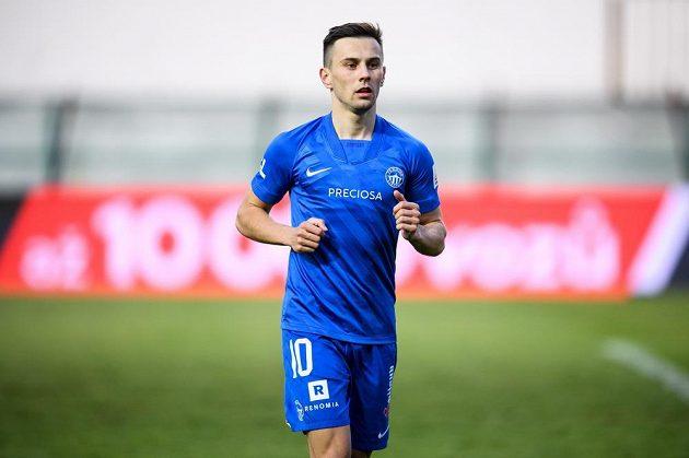 Jakub Pešek ze Slovanu Liberec během utkání 31. kola Fortuna ligy s Bohemians.