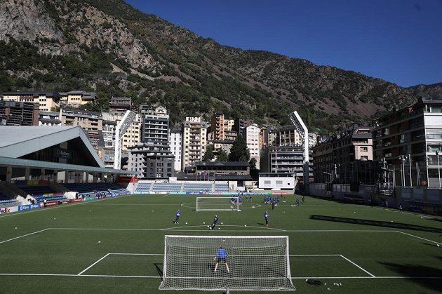 Estadi Nacional v metropoli Andorra La Vella.