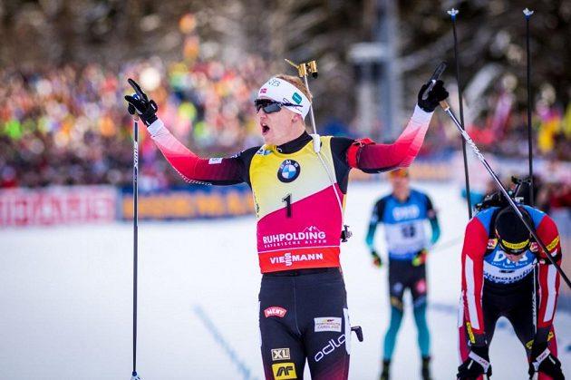 Johannes Boe slaví triumf.