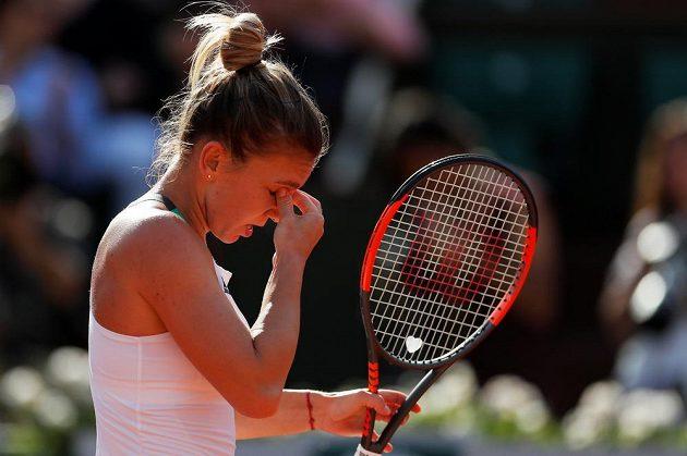 Rumunka Simona Halepová během semifinále French Open.