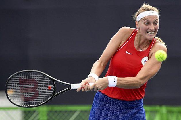 Česká tenistka Petra Kvitová ve druhém kole olympijského turnaje.
