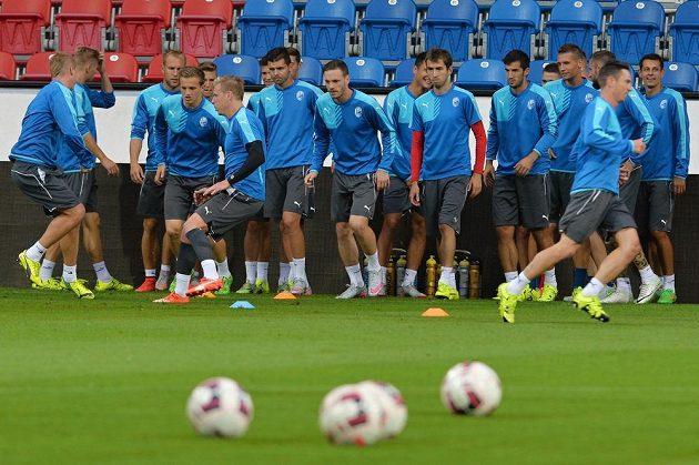 Plzeňští fotbalisté se chystají na úvodní duel s Vojvodinou.