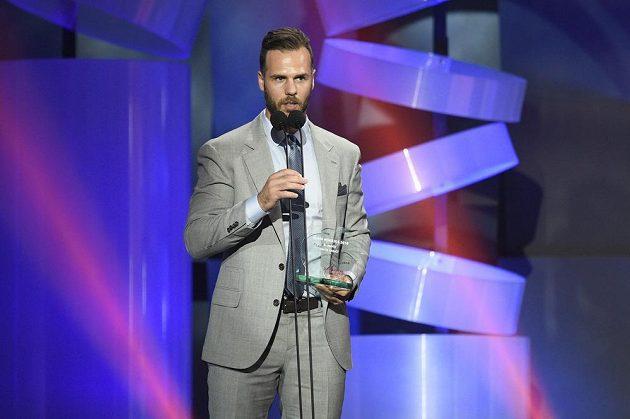 Třetí nejlepší hokejista ankety Zlatá hokejka - David Krejčí.