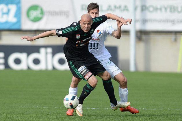 Příbramský útočník Roman Bednář v utkání proti Baníku Ostrava.