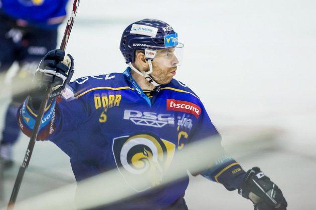 Tomáš Žižka ze Zlína se raduje ze vstřeleného gólu.