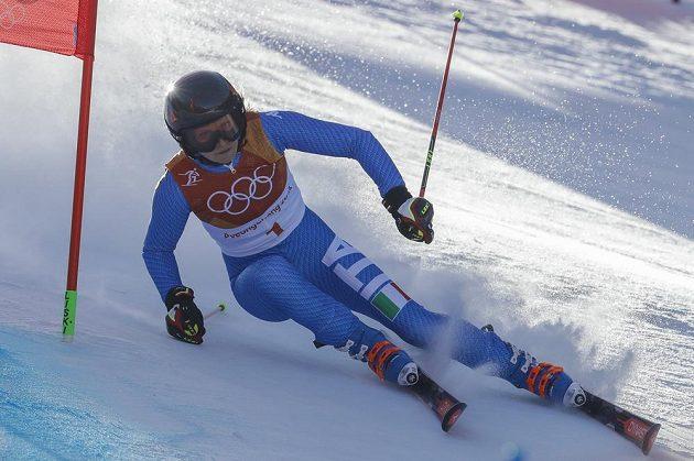 Italka Manuela Mölggová zajela první jízdu obřího slalomu skvěle.