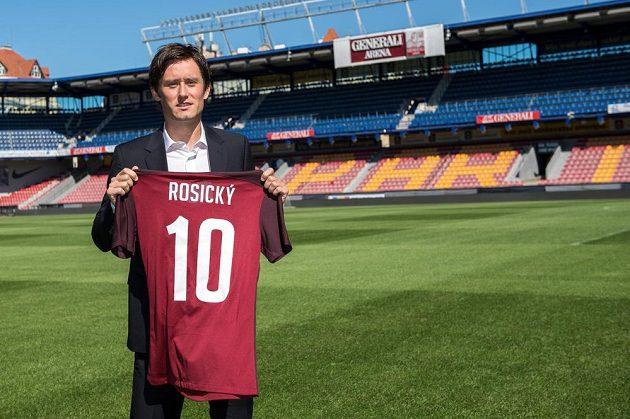Tomáš Rosický si vybral sparťanský dres s číslem 10, určený pro špílmachra týmu.