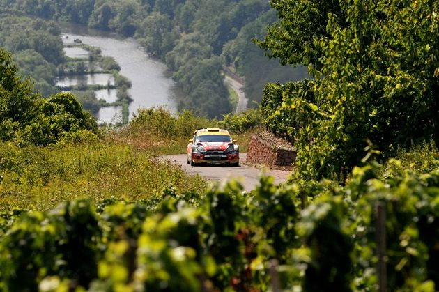 Martin Prokop s Fordem Fiesta WRC na trati Německé rallye 2013.