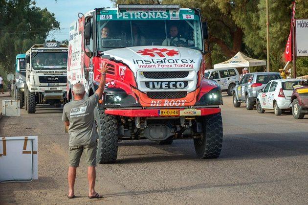 Aleš Loprais na startu Rallye Oil Libya