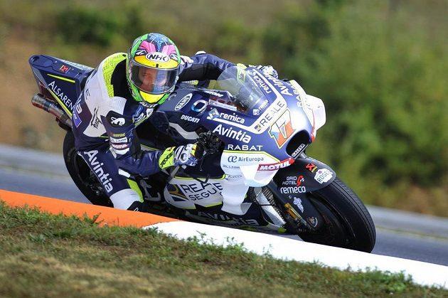 Z dvacáté pozice na startu vyrazí v Brně do závodu český jezdec kategorie MotoGP Karel Abraham.