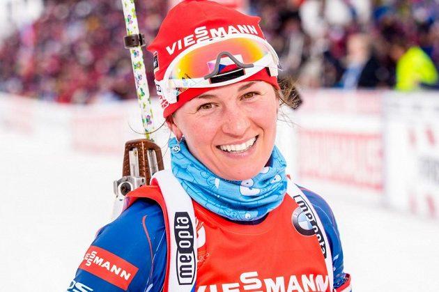Veronika Vítková v cíli sprintu v Holmenkollenu, dějišti MS.