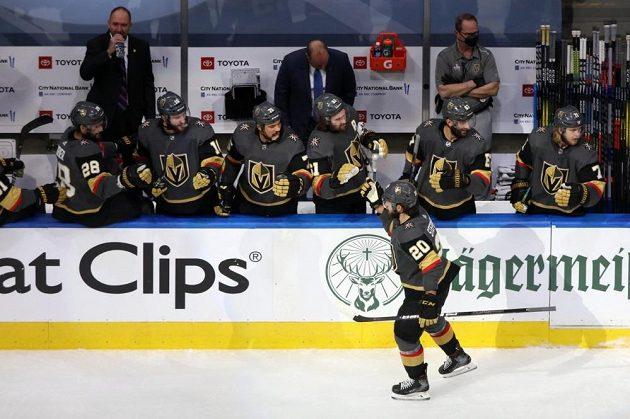 Hokejisté Las Vegas slaví branku (ilustrační foto)