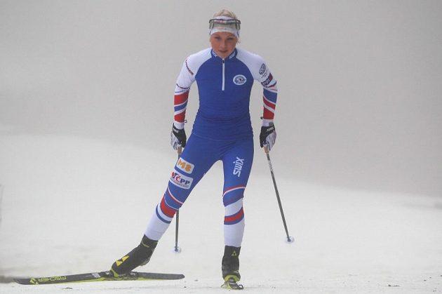 Barbora Havlíčková, mladá reprezentantka v klasickém lyžování, při tréninku ve Vimperku.