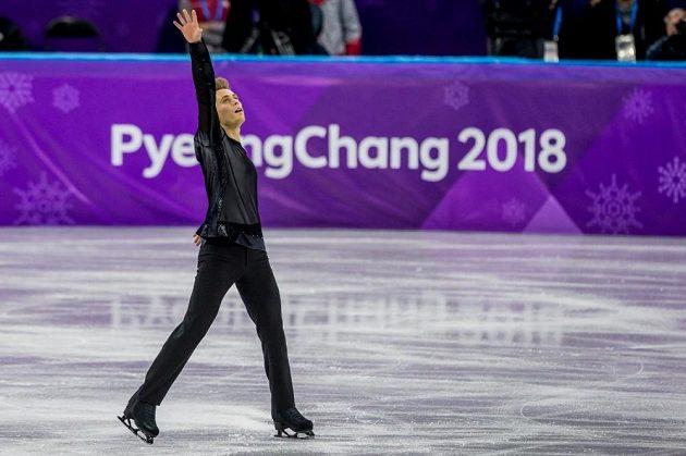 Krasobruslař Michal Březina skončil na olympijských hrách šestnáctý.