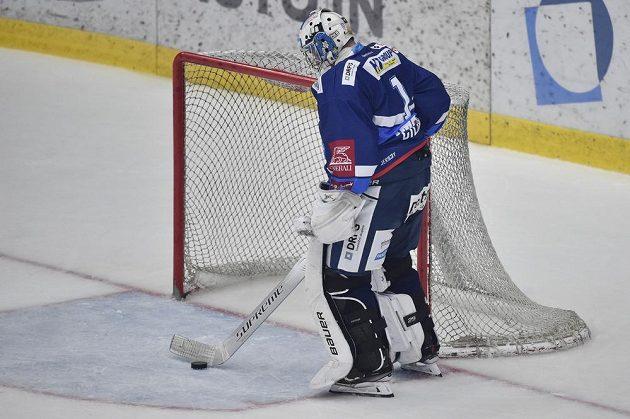 Brankář Brna Marek Čiliak po druhém inkasovaném gólu.