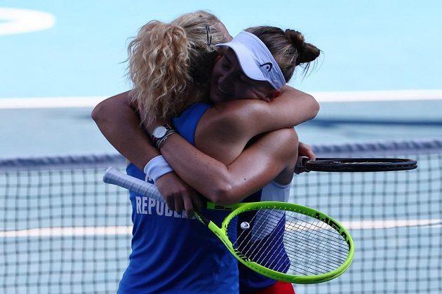 Je to tam! České tenistky Barbora Krejčíková a Kateřina Siniaková právy vyhrály olympijské finále.
