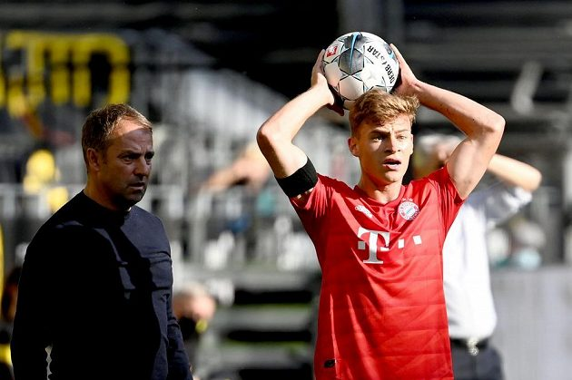 Joshua Kimmich z Bayernu při utkání s Dortmundem.