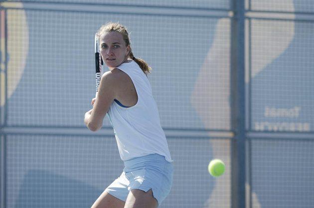Petra Kvitová během tréninku na Spartě
