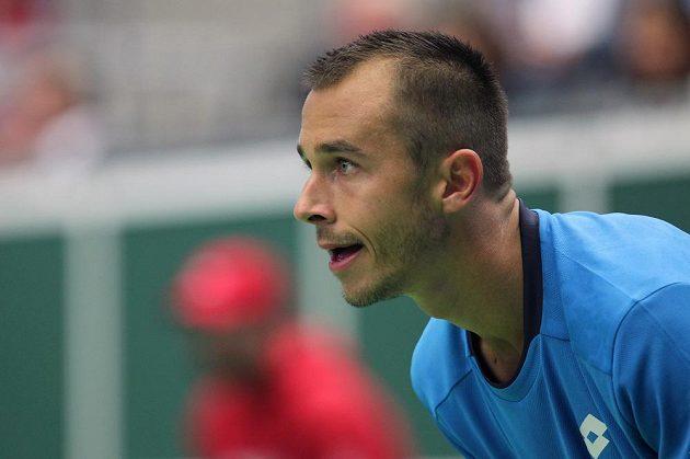 Lukáš Rosol zaskočil favorizovaného Jo-Wilfrieda Tsongu a získal pro Francii ve čtvrtfinále Davisova poháru první bod.